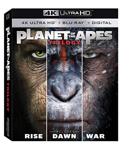 (Planet of the Apes 1-3 Trilogy [4K Ultra HD + Blu-Ray + Digital])