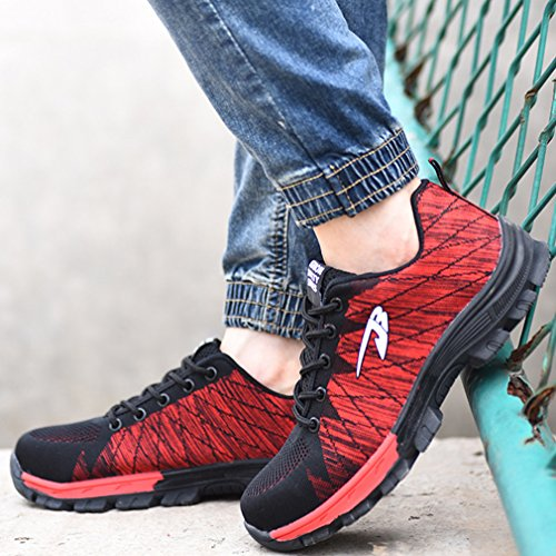 Unisex Breathable Shoes Shoes Shoes Men Shoes Juleya Shoes Work Women Shoes Sports Safety Red Zg1pwBqd