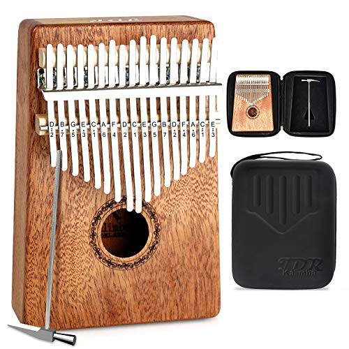 JDR Kalimba 17 keys Thumb Piano Perfect Music Enlightenment Birthday Gift for Men, Women, Kids Without Any Musical Basis,Environmentally Friendly Material (17 key)