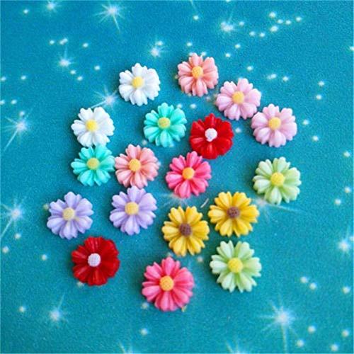 STORE-HOMER - 30pcs DIY Mix Resin Sunflower flower flat back Scrapbooking For phone/craft New