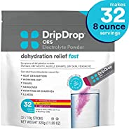 DripDrop ORS – Patented Electrolyte Powder for Dehydration Relief Fast - For Workout, Hangover, Illness, Sweating & Travel R