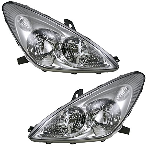HID Xenon Headlights Headlamps Left & Right Pair Set of 2 for Lexus ES300 - Hid Es300 Headlight Lexus