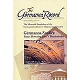 img - for Germanna Studies: Essays Honoring John V. Blankenbaker (The Germanna Record) book / textbook / text book