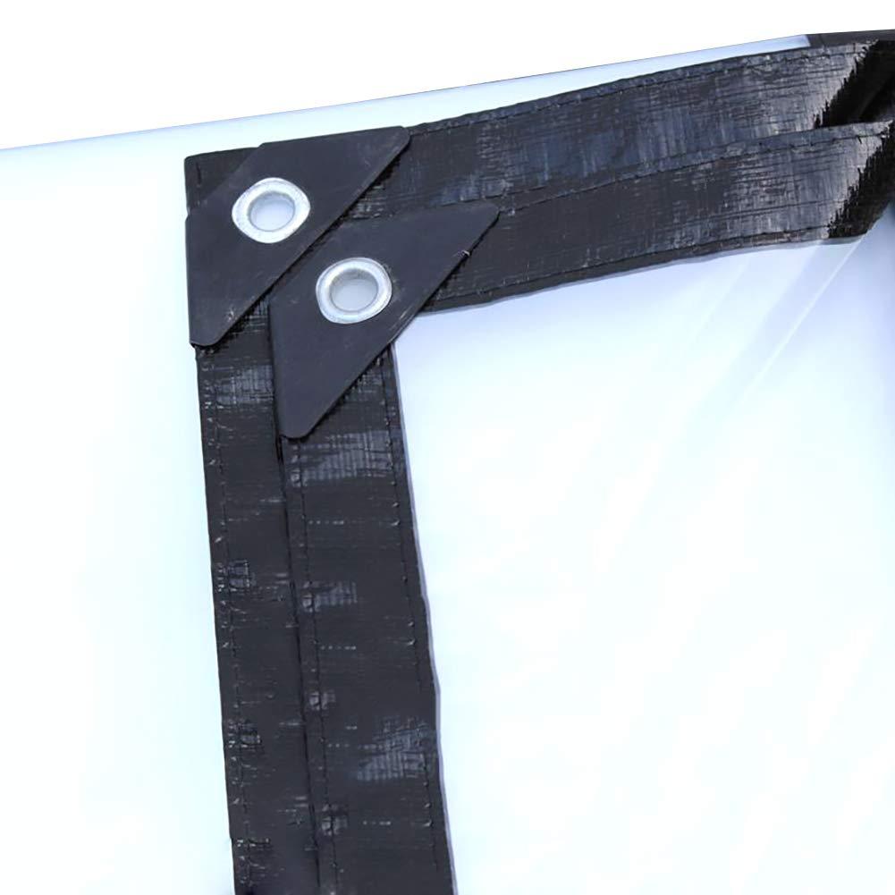 2MX4M  GZW001 BÂche Transparente avec Oeillets, bÂche imperméable antipluie, Film Plastique Transparent Blanc 120G   M²