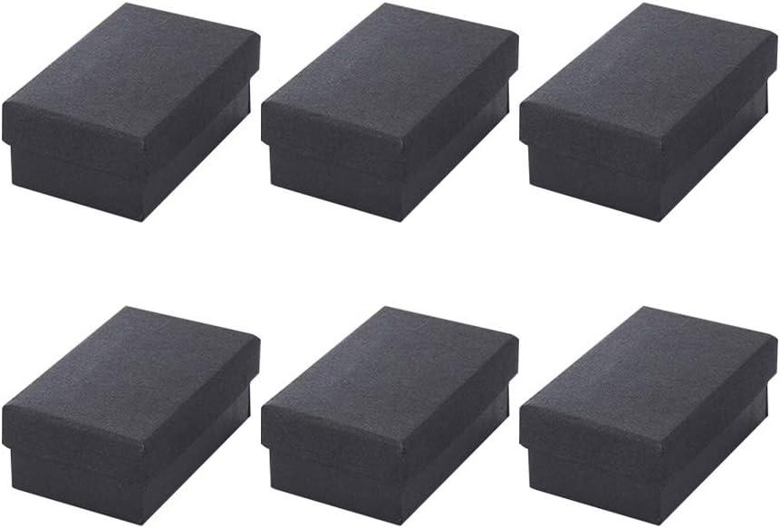 Artibetter The Display Guys, caja de regalo negra, relleno de esponja, caja de regalo de cartón negro, paquete de 25 (negro), color negro 7 x 9 x 3cm: Amazon.es: Oficina y papelería