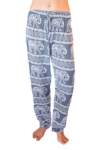 PIYOGA Women's Yoga Pants, Regular/Tall Straight Leg (US 0-10) - Confidence of The Elephants (Gray)