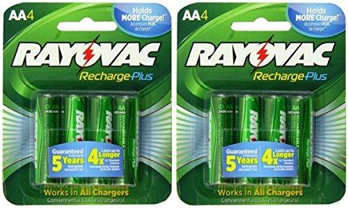 Rayovac Rechargeable Nimh Aa Batteries (Rayovac Recharge Plus AA 2400mAh NiMH Rechargeable Batteries 8 Pack by Rayovac)