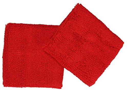 Schweißband / Armband im 2er Pack / Farbe: rot