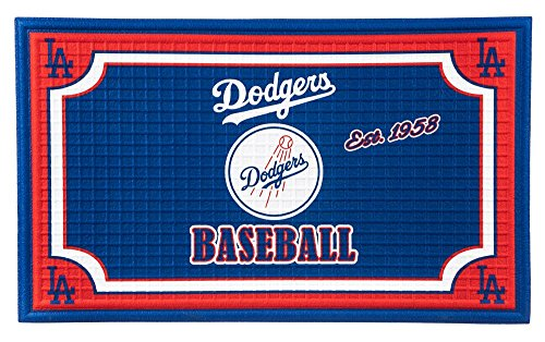 Team Sports America Los Angeles Dodgers Embossed Floor Mat, 18 x 30 inches