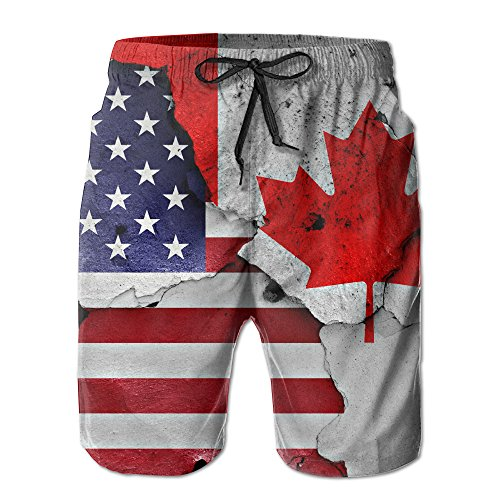 6809c1647e1bc America And Canada XL Beach Pants Of Men Hip Hop Summer Pants Casual Quick  – Dry Bathing Suits For Swim Trunks Cargo Shorts With Ventilation Summer ...