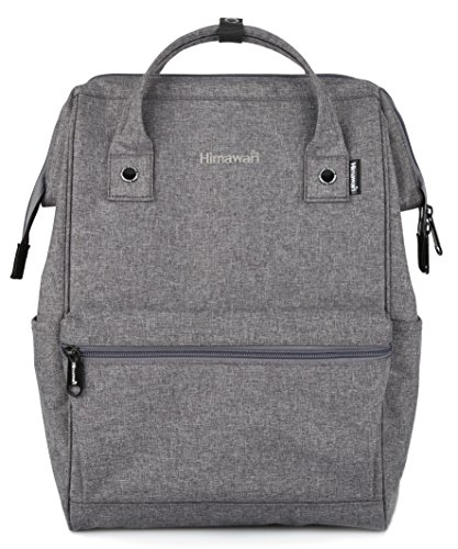 Himawari Travel Backpack Large Diaper Bag School Backpack for Women&Men (Dark gray)