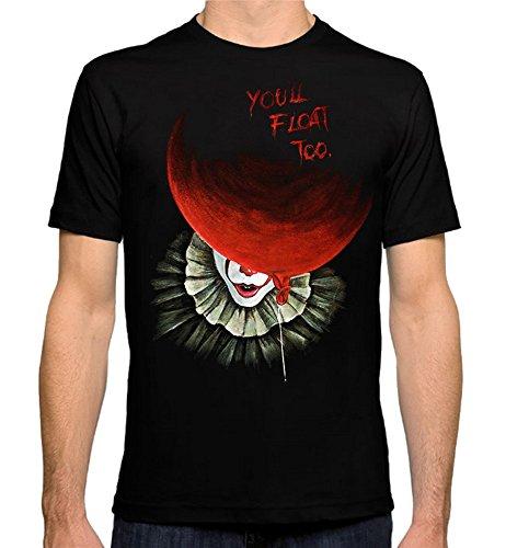 Pennywise 'It' T-Shirt, Scarry Clown Art Men's Women's Tee, (XS - -