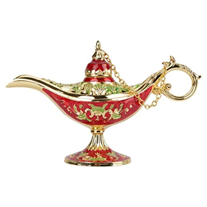 Home Decor Home Decor Incense Burners Antique Style Fairy Tale Magic Lamps Tea Pot Genie Lamp Vintage Retro Toys For Children Gifts 1pc
