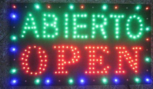 Creative Motion Abierto Open Sign Light