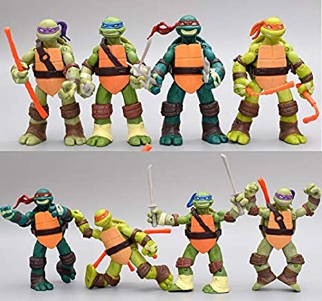 Amazon.com: Figura de León Leonardo con diseño de tortuga de ...