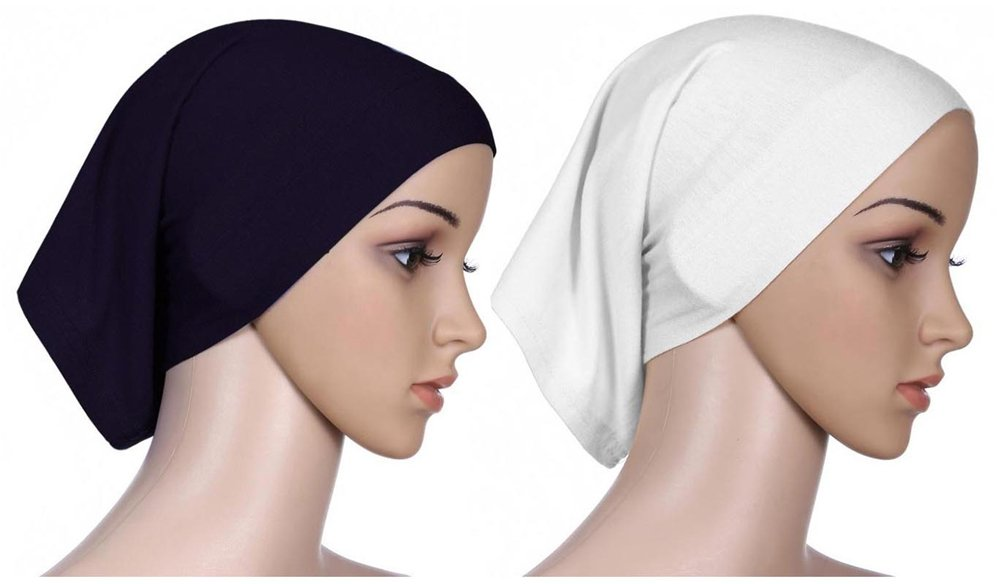 e9a7327319a Amazon.com  Fortuning s JDS 2pcs Islamic lightweight under scarf tube bonnet  cap under scarves inner hijab caps for women  Sports   Outdoors