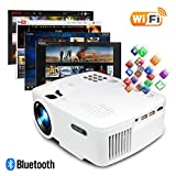 ERISAN Projector Video Home TV Theater, LED Android 6.0 WiFi Bluetooth, 2000 Lumens, Support 1080P Full HD, 2018 Updated Hi-Fi Speaker, Quieter Fan, Mini Smart Video Beam, Multimedia Party Game