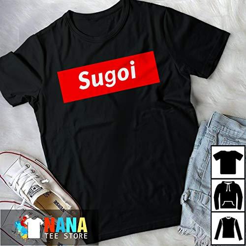 Japan Parody Sugoi Red And White T-Shirt Long T-Shirt Sweatshirt Hoodie ()