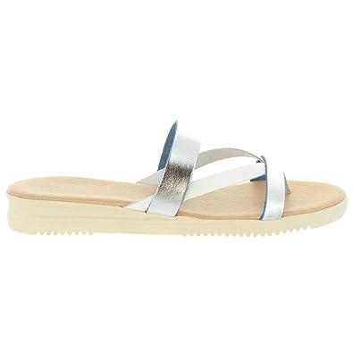 Cumbia 20573 Plateado - Chaussures Sandale Femme
