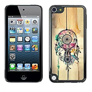 Hard Protector Case Cover Slim Back Shell for Apple iPod Touch 5 /Catcher Art Hipster Indian/ STRONG