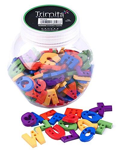 Alfabeto formas botones en varios tama/ños y colores tarro con jud/ías