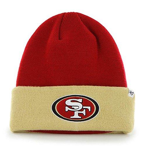 Gold Knit Beanie (San Francisco 49ers Gold Cuff 2-Tone