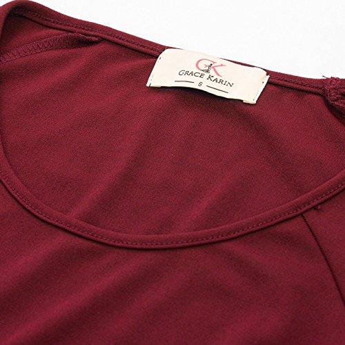 1626fe9f8d862 GRACE KARIN Women Business Short Sleeve Bodycon Cocktail Pencil Dress with  Belt