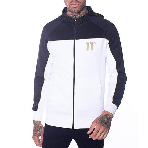 11 Degrees New Mens Core Full Zip Long Sleeve Poly Hoodie Black