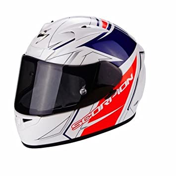 Scorpion Casco Moto EXO-710 AIR Line, White/Red/Blue, XS