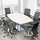 6 Person Conference Table with Metal Base | Boat