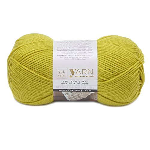Solid Yarn Grass - Darice All Things You, Essential Acylic Solid Color Yarn, Grass