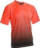 Vizari Ventura Short Sleeve Goal Keeper Jersey, Neon Orange/Black, Youth X-Large