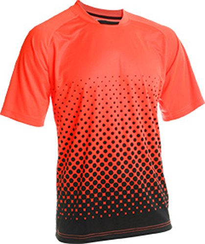 (Vizari Ventura Short Sleeve Goalkeeper Jersey, Neon Orange/Black, Size Adult X-Large)