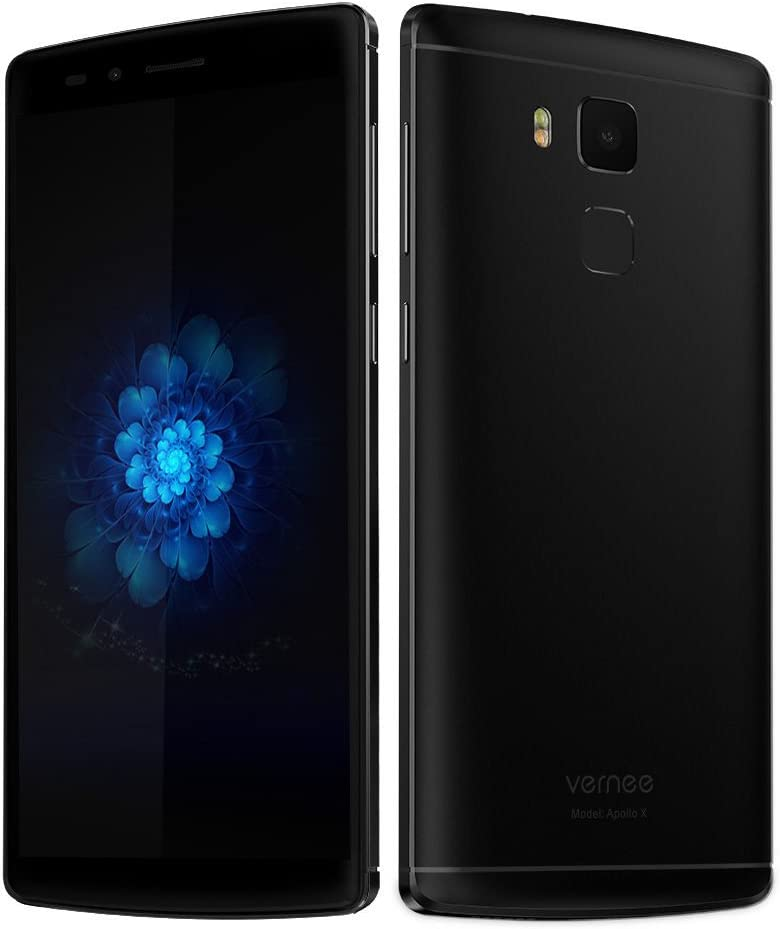 Vernee Apollo X Smartphone X20 MTK6797 2,3GHz Deca Core 4GB RAM 64GB ROM 5,5 Pulgadas 2,5D FHD 0,1S Desbloqueado Cámara 13MP & 5MP Huellas Dactilares Batería 3500mAh Android 6.0 USB Type C,