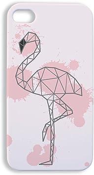Chamalow Shop Coque pour iPhone 4 et 4S Origami Flamant Rose Kawaii - Fabriqué en France - Licence officelle