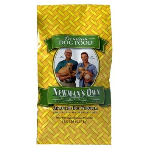 Newman's Own Organics Advanced Dog Formula for Active or Senior Dogs, 12.5-Pound Bag ( Multi-Pack)