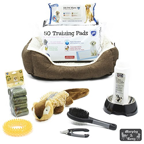 Heavy-Duty Starter Kit for Medium Dogs, Brown