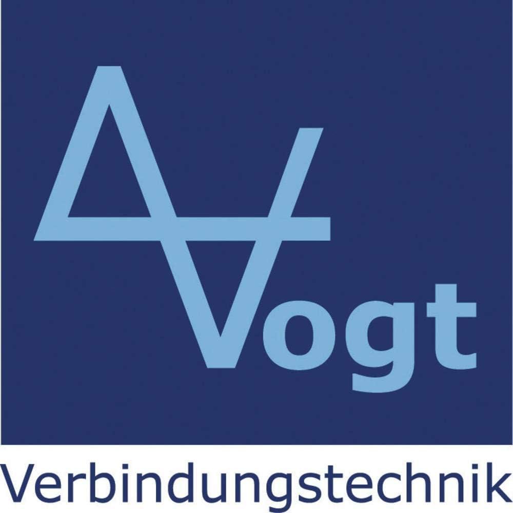 Vogt Verbindungstechnik 470208 Aderendh/ülse 0.75 mm/² Teilisoliert Blau 100 St.