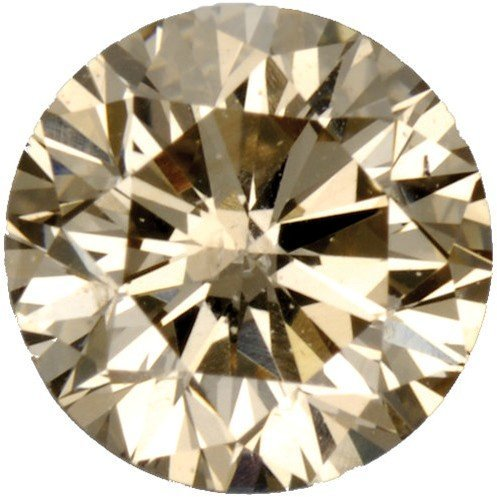 Loose Fancy Light Brown Diamond Melee Round Shape, SI1 Clarity, 4.10 mm0.25 Carats