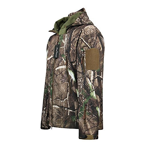 Review Camo Jacket New View Waterproof Hunting Camouflage Hoodie Military Jacketor and Pants for Unisex X-Large