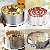 HMIN Adjustable Cake Mold Mousse Ring, Heavy Duty