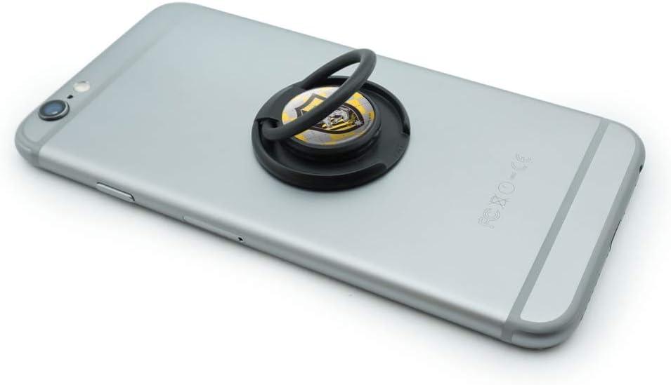 Harry Potter Hufflepuff Plaid Sigil Mobile Smart Phone Finger Ring Grip Holder Stand