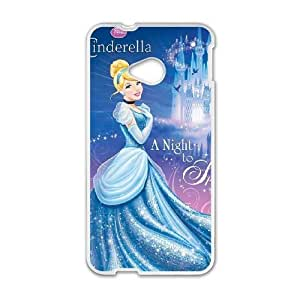 HTC One M7 phone cases White Cinderella cell phone cases Beautiful gifts UREN2411831