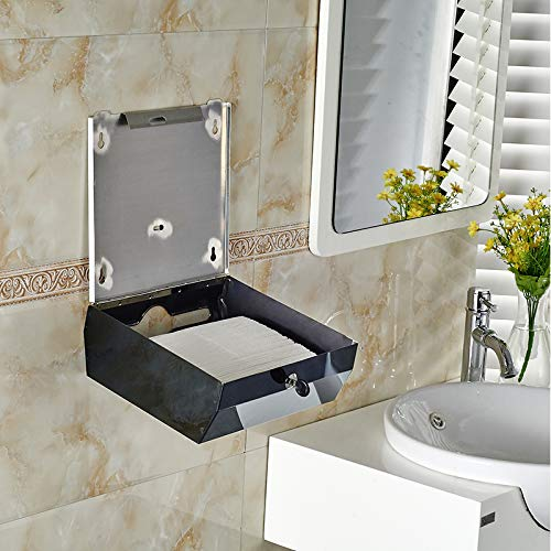Paper Towels Dispenser For Office bathroom&kitchen Wall Mount stainless steel Multifold Paper Towel, Tri fold Hand Towel Holder Commercial by YJ YANJUN (Image #6)