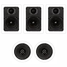 Theater Solutions TS-55 1000 Watt 5CH In-Wall/Ceiling Home Theater Speaker System