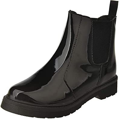 Botines Tacón Alto POLP Invierno Tobillo Botas Señoras Plataforma Zapatos Altos Talones Martin Botas Botas de Agua Mujer Impermeable Lluvia Zapatos