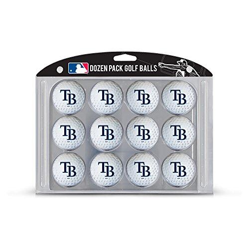 Team Golf MLB Tampa Bay Rays Dozen Regulation Size Golf Balls, 12 Pack, Full Color Durable Team Imprint