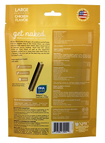 Image of Get Naked Grain Free 1 Pouch 6.6 oz Joint Health Dental Chew Sticks, Large