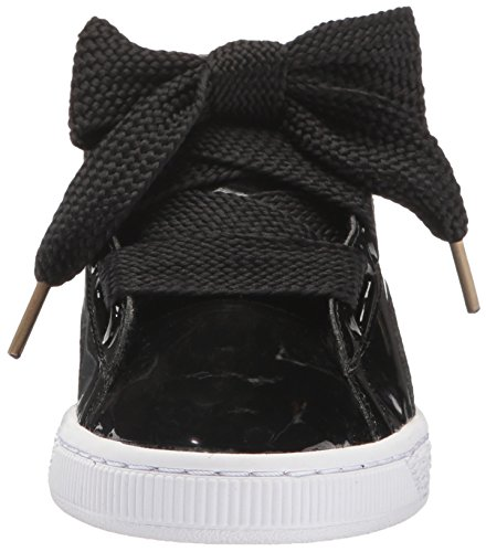 PUMA Damen Basket Heart Patent Wn Fashion Sneaker Puma Schwarz-Puma Schwarz