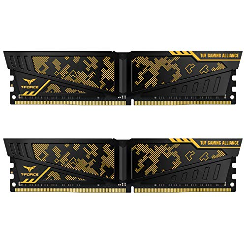 TEAMGROUP T-Force Vulcan TUF DDR4 Gaming Alliance 16GB (2x8GB) 2400MHz (PC4-24000) CL16 Desktop Memory Module ram